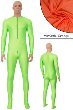 Herren Wetlook Ganzanzug FRV+SRV+Fuß orange