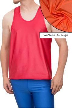 Herren Wetlook Boxerhemd Comfort Fit orange