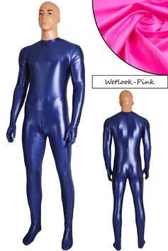 Herren Wetlook Ganzanzug RRV+SRV+Hände+Füße pink