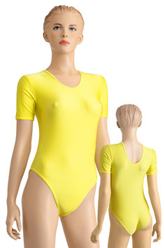 Damen Body kurze Ärmel gelb
