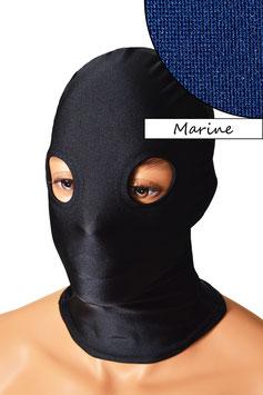 Kopfhaube (Maske) marine, mit Löchern für Augen