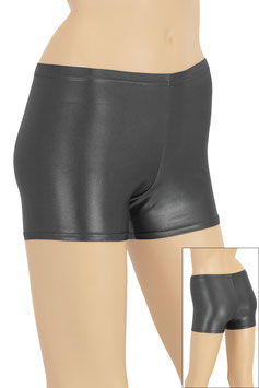 Damen Wetlook Hotpant anthrazit