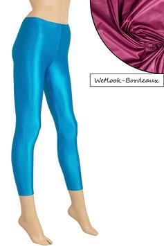 Damen Wetlook Leggings bordeaux