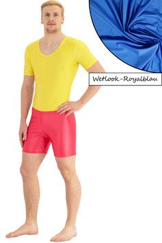 Herren Wetlook Hotpant roalblau