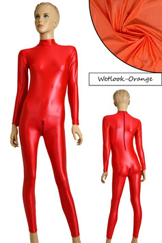 Damen Wetlook Ganzanzug RRV+SRV orange