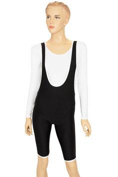 Damen Trägerhose schwarz-weiß