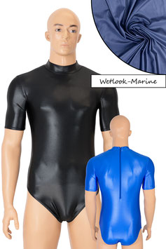 Herren Wetlook Body kurze Ärmel Rücken-RV marine