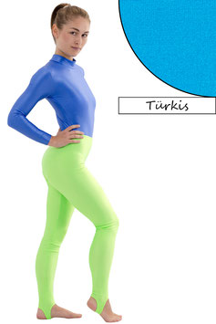 Damen Leggings mit Steg türkis