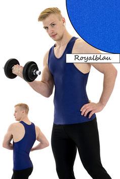 Herren Boxerhemd Slim Fit royalblau