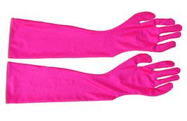 Lange Handschuhe pink