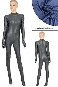 Damen Wetlook Ganzanzug RRV+SRV+Hand+Fuß marine