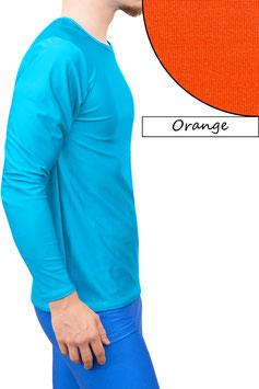 Herren Longsleeve T-Shirt Comfort Fit orange