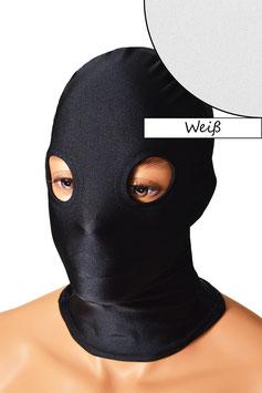 Kopfhaube (Maske) weiß, mit Löchern für Augen