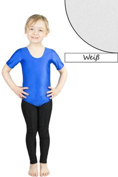 Kinder Gymnastikanzug kurze Ärmel weiß