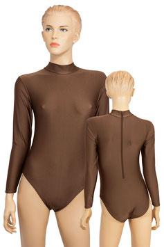 Damen Body lange Ärmel RRV braun