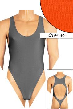 Herren Stringbody Boxerschnitt und freier Rücken orange