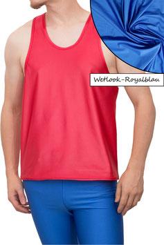 Herren Wetlook Boxerhemd Comfort Fit royalblau