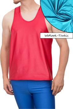Herren Wetlook Boxerhemd Comfort Fit türkis