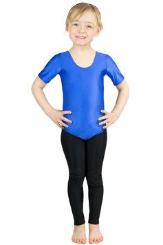 Kinder Gymnastikanzug kurze Ärmel royalblau
