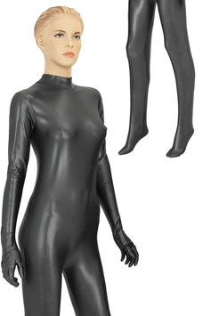 Damen Wetlook Ganzanzug RRV+Hand+Fuß anthrazit