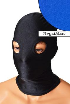 Kopfhaube (Maske) royalblau, mit Löchern für Augen