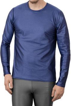 Herren Wetlook T-Shirt lange Ärmel Comfort Fit marine