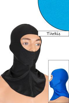 Sturmhaube Augen+Nase offen türkis