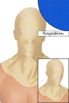 Kopfhaube geschlossen royalblau