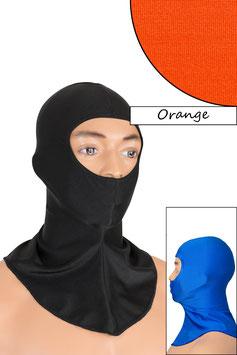 Sturmhaube Augen+Nase offen orange