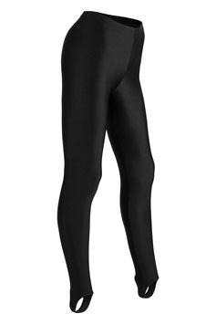 Damen Leggings mit Steg schwarz