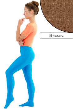 Damen Leggings mit Fuß braun