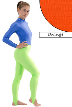 Damen Leggings mit Steg orange