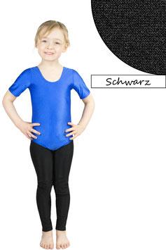 Kinder Gymnastikanzug kurze Ärmel schwarz