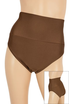 Damen High-Waist Slip braun