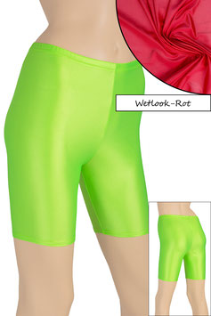 Damen Wetlook Radlerhose rot