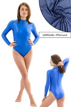 Damen Wetlook Body lange Ärmel RRV marine
