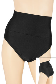 Damen High-Waist Slip schwarz