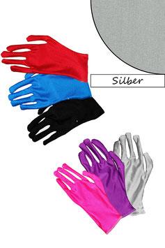 Kurze Handschuhe silber