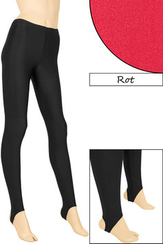 Kinder Leggings mit Steg rot