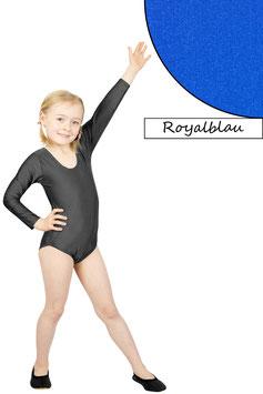Kinder Gymnastikanzug lange Ärmel royalblau
