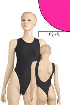 Damen Stringbody tiefer Rückenausschnitt Pink