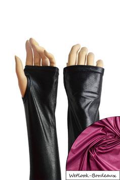 Wetlook fingerlose Handschuhe mit Daumenloch bordeaux