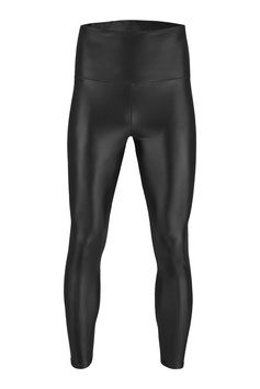Herren Wetlook High-Waist Leggings schwarz