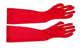 Lange Handschuhe rot