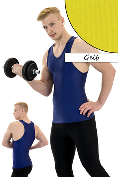 Herren Boxerhemd Slim Fit gelb