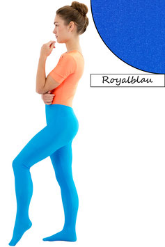 Damen Leggings mit Fuß royalblau