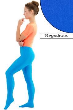 Damen Leggings mit Fuß royalblau