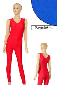 Damen Ganzanzug ohne Ärmel Rundhals royalblau