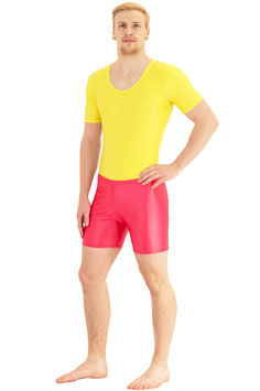 Herren Wetlook Hotpants rot