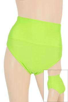 Damen High-Waist Slip neongrün